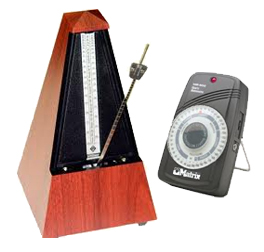 Mechanical and electronic metronomes