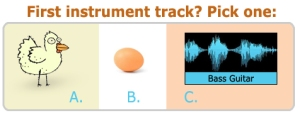 First Instrument Tracks: Pick One